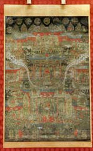 『胎蔵界(たいぞうかい)曼荼羅図(まんだらず)(市指定絵画)』の画像