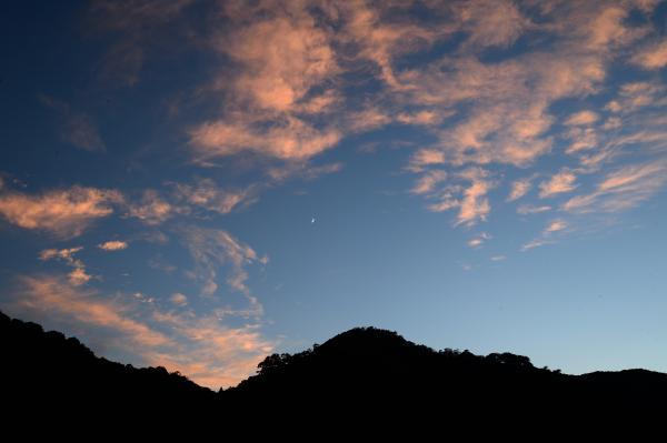 『花貫ダム夕日』の画像